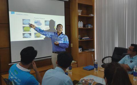Buổi Training Kiến thức về ngành nhám tại văn phòng DTC