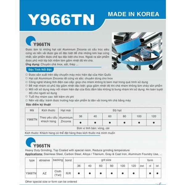 Nhám Vòng Y966TN chuyên dùng cho Inox (Made in Korea)