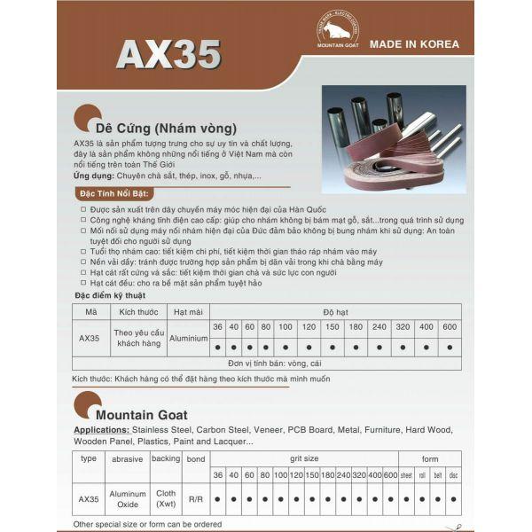 Nhám Vòng Dê Cứng AX35 (Made in Korea)