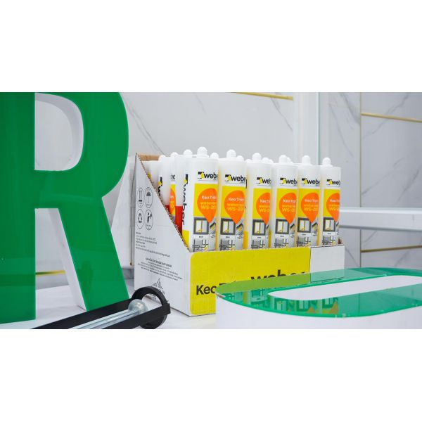 Keo silicone weberseal WS-200  thông dụng gốc ACID