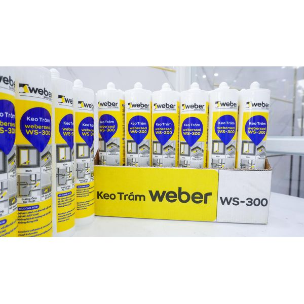 Keo silicone weberseal WS-300 cao cấp gốc ACID