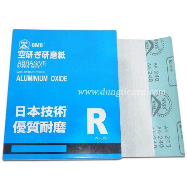 Giấy nhám tờ 8M8 (Trung Quốc Xanh)
