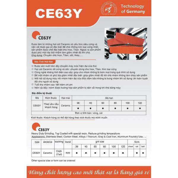 Nhám vòng CE63Y Ceramic (  technology of  Germany )